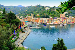 Italian Riviera the place where mountains falls into the sea