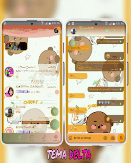 Teddy Bear At Coffee Theme For YOWhatsApp & Fouad WhatsApp By Ale