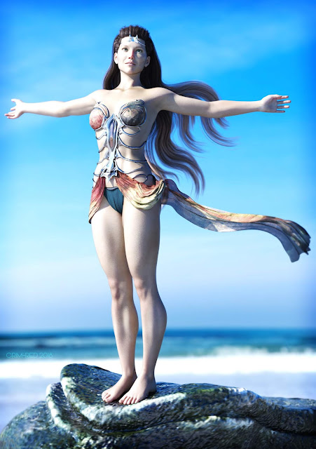 Swimming and Shoreline Poses for Genesis 3 Female and Genesis 8 Female