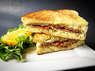Grilled PBJ with Bacon and White Cheddar