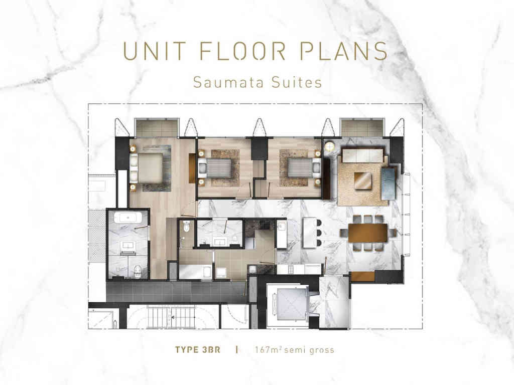 Saumata Suites Tipe 3BR