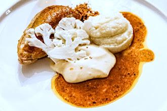 Ailleurs : Restaurant de l'Auberge de l'Abbaye à Thiron-Gardais, les compositions sincères du chef Rémi Brouard, halte gourmande dans le Perche