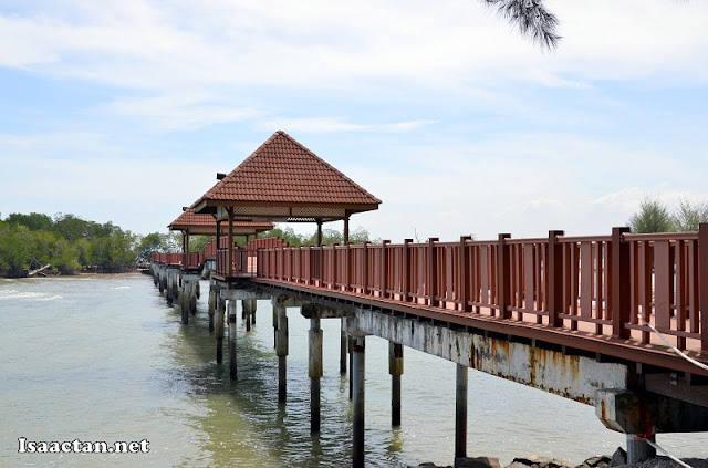 "The ""famous"" wooden bridge at Pantai Cahaya Negeri Port Dickson"