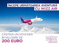 Castiga un voucher de calatorie de la WIZZ Air