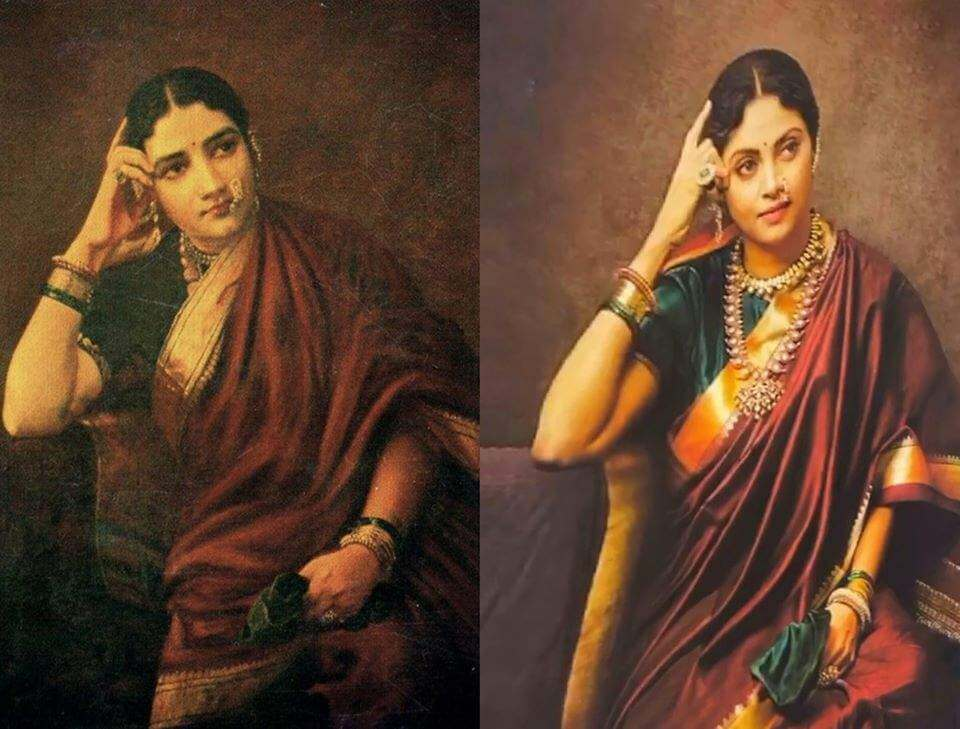 South actresses recreating iconic Raja Ravi Varma paintings for 2020 Calendar. Check out HD pictures! 9