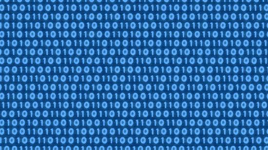デジタルデータの背景素材(青)