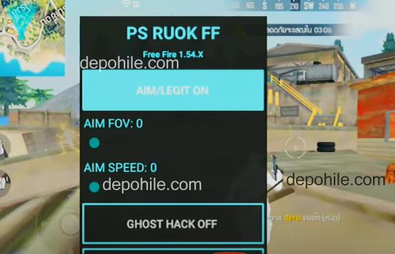 Free Fire PS Ruok Menu ESP, Auto Shot Hilesi İndir Son Sürüm