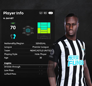 PES 2021 Faces Henri Saivet