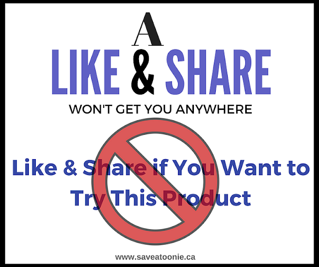 A Like & Share Won't Get You Anywhere