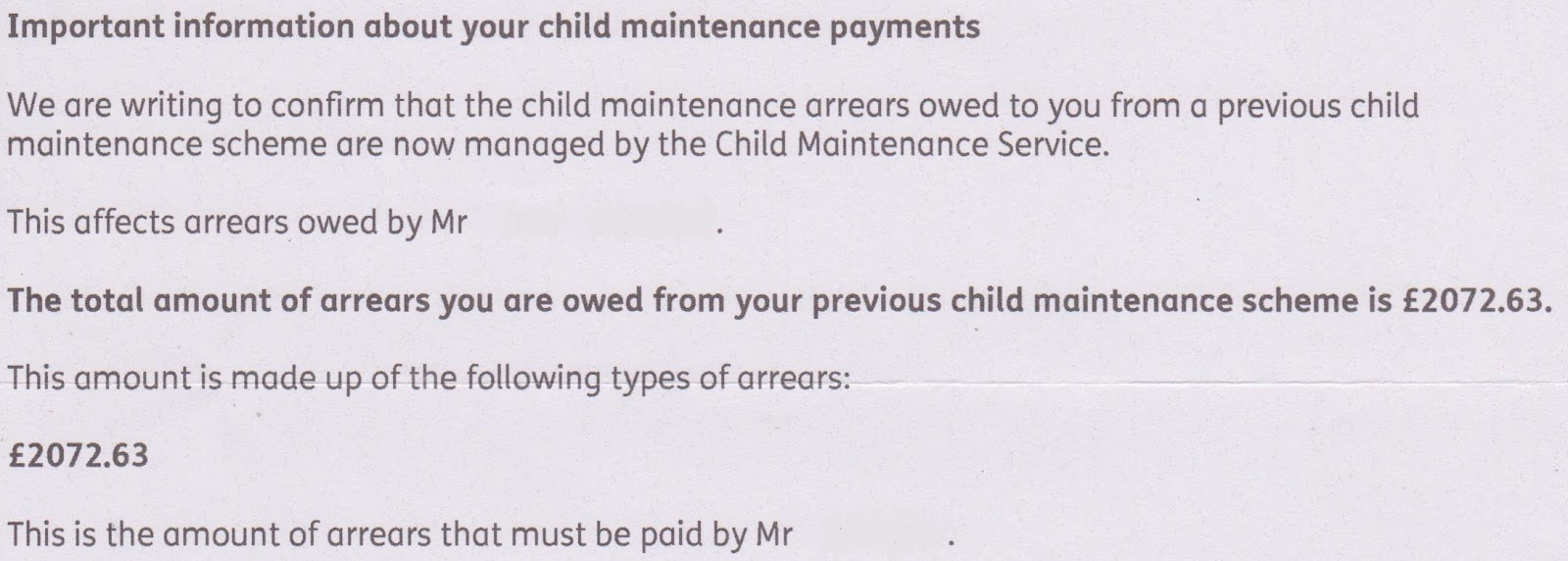 The cms child maintenance saga cms arrears letter thecheapjerseys Images