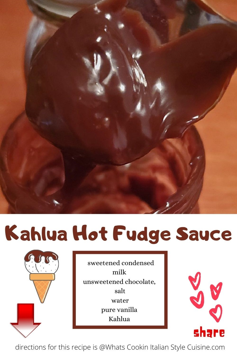 pin for later how to make Kahlua hot fudge sauce