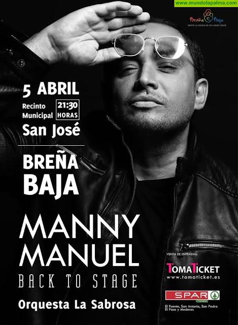 Concierto de Manny Manuel en Breña Baja, La Palma