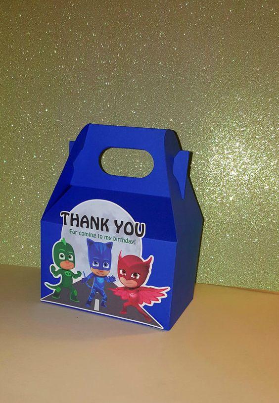 Lembrancinhas caixa PJ Masks