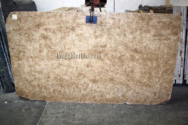 Emperador Light marble slabs for countertops