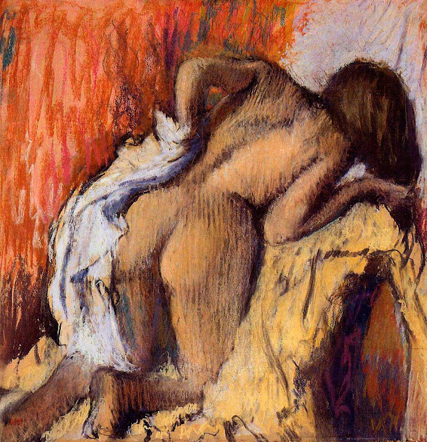 Эдгар Дега - Женщина, вытирающая тело (1896-1898)