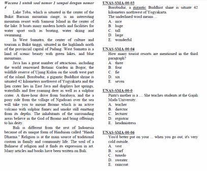 Narrative dan Procedure Text UN Bahasa Inggris SMA