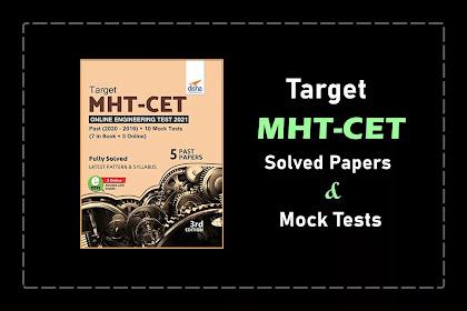 [PDF] Disha TARGET MHT-CET Past Year Papers + 10 Mock Tests | Free Download