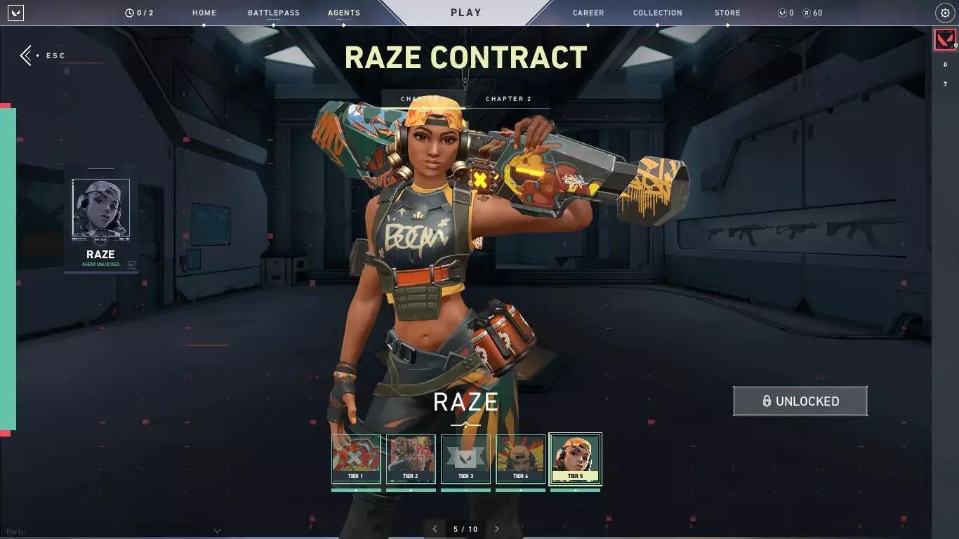 Agent Select Agent Raze - Valorant