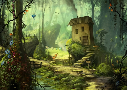 02-A-Home-in-the-Green-Jeremiah-Morelli-Fantasy-Digital-Art-from-a-Middle-School-Teacher-www-designstack-co
