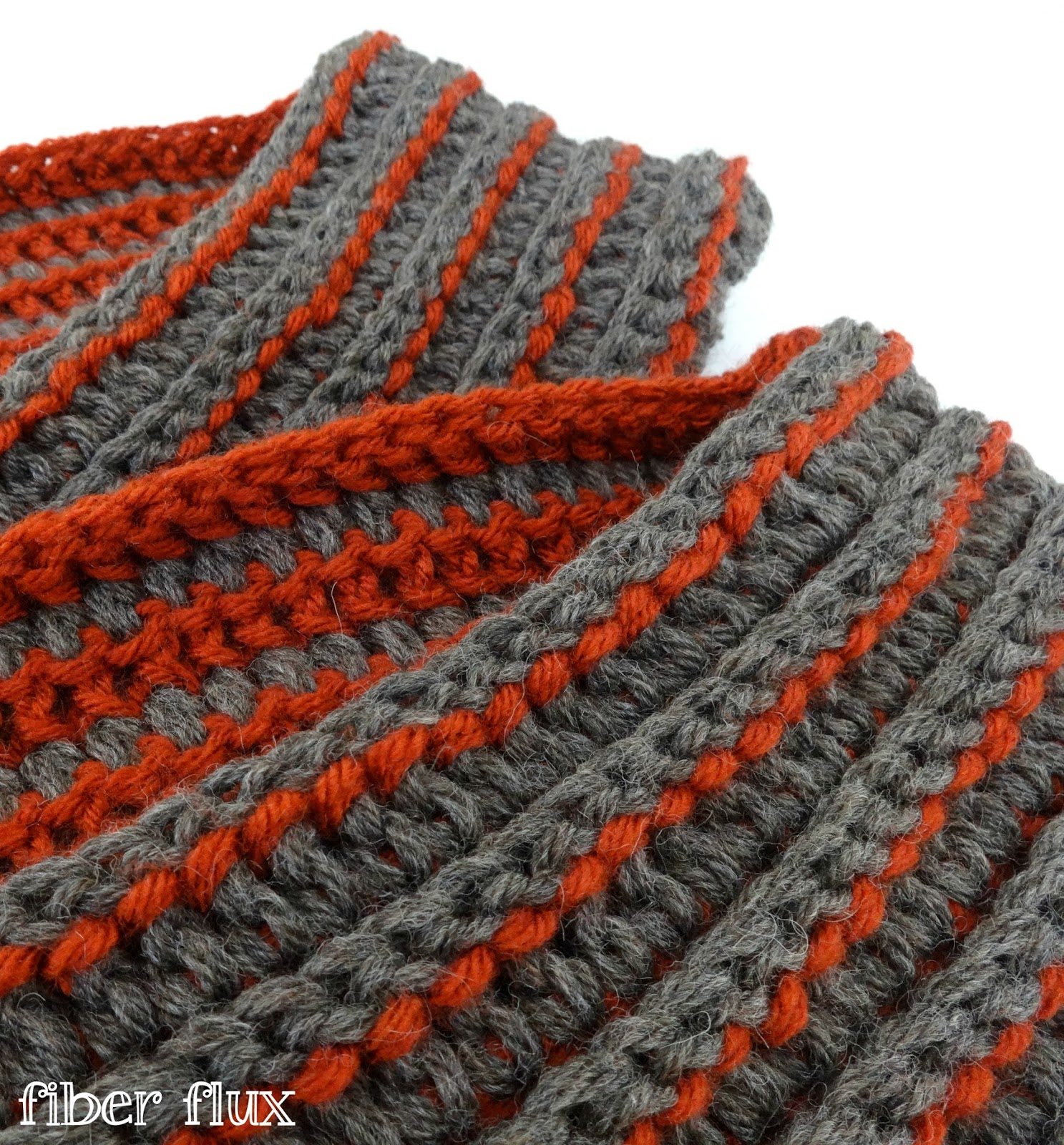 Fiber Flux Free Crochet Patterne Every Man Scarf