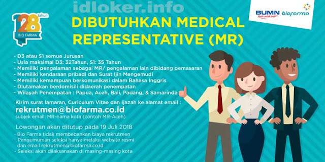 Lowongan Kerja Bio Farma untuk  lulusan D3 dan S1