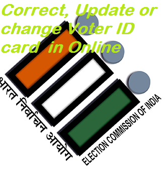 correct, update or changer voter id card in online image
