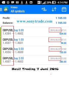 hasil trading sonytrade belajar saham, forex, options