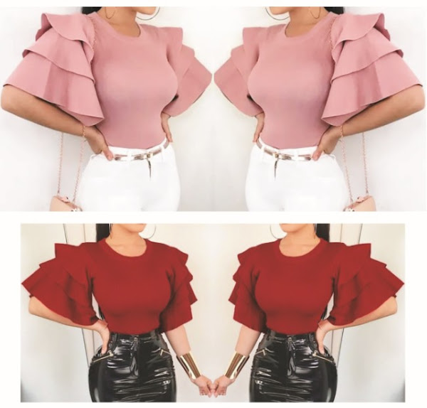 Women's Fitted Blouses: Ladies Fashionable Slim-Fit Shirts - Classy Body-Hug Modern-Dress Tops