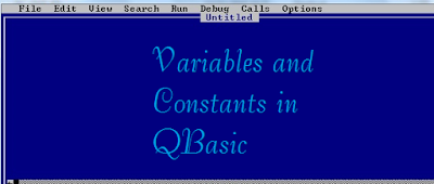 Variables And Constants in QBasic