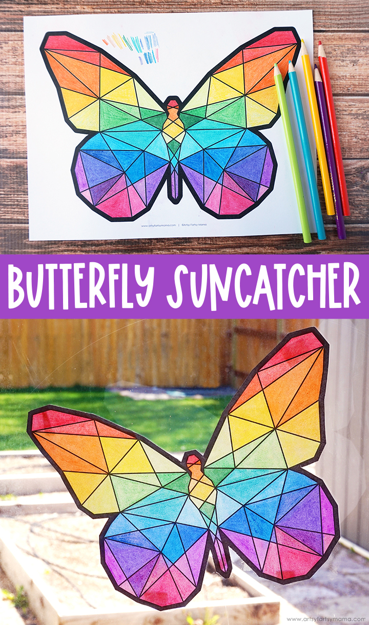 Kids of all ages will love making Butterfly Suncatchers to brighten up your home!!