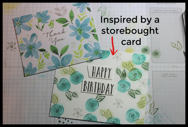 This store-bought thank you card inspired my birthday card