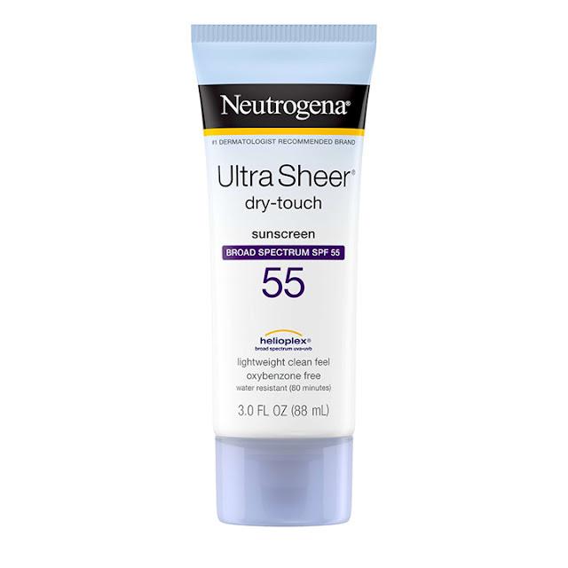 kem chong nang cho da dau gia hoc sinh Neutrogena Ultra Sheer Dry Touch Sunscreen SPF 55