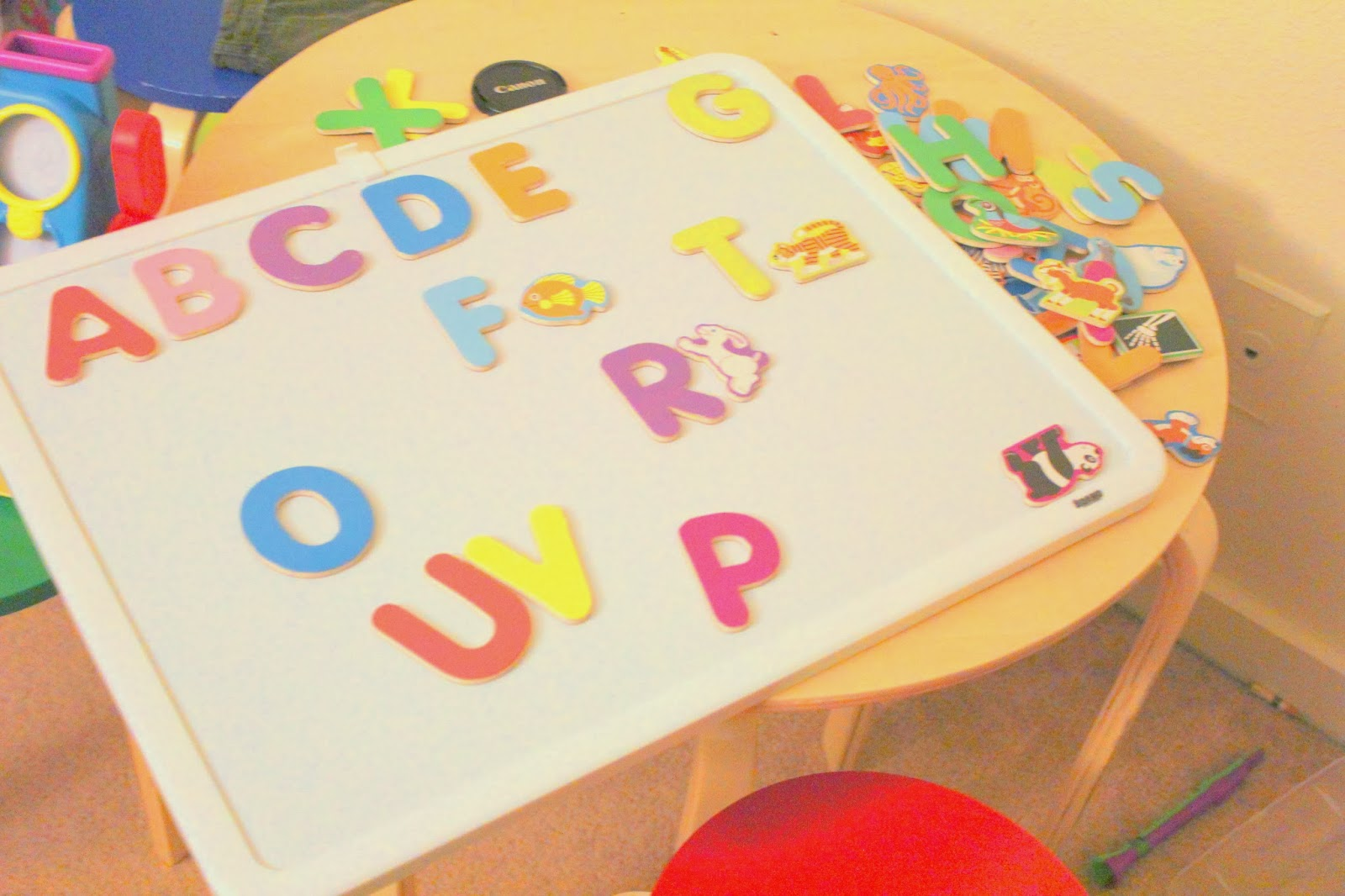 ABCs and alphabet learning for Toddlers using magnets