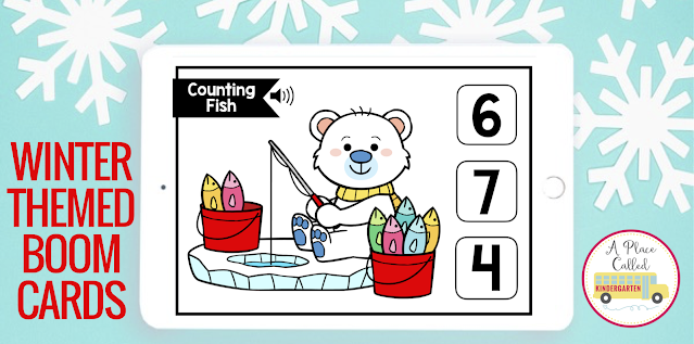 These math and ELA Winter Boom Cards are perfect for early childhood, Kindergarten or first grade to use during literacy centers or math centers, stations, rotations or post-assessment. Thees decks of Boom cards includes FREE set and they can be used for face to face, virtual or remote learning for early elementary students. Your students with love this self checking activity. Click to learn more about Boom Learning and Boom Cards. (preK, Kindergarten, homeschool, 1st grade) #kindergarten #boomcards