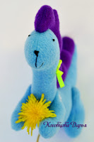 дракон из флиса, дракон игрушка, дракоша ручной работы