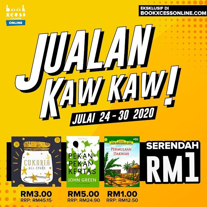 Jualan Kaw Kaw BookXcess Online Serendah RM1!!!