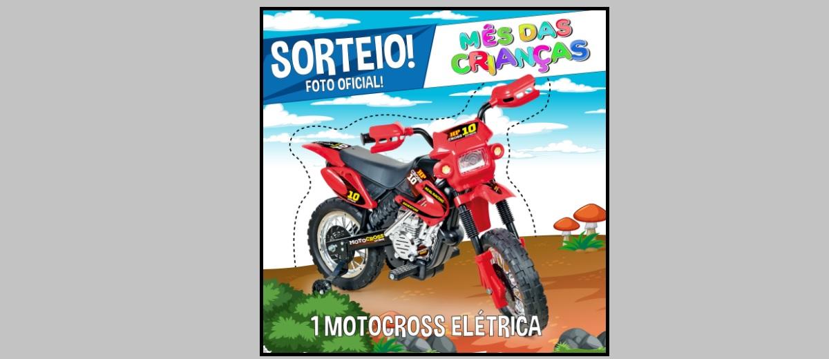 Sorteio Dia das Crianças 2021 Moto Elétrica
