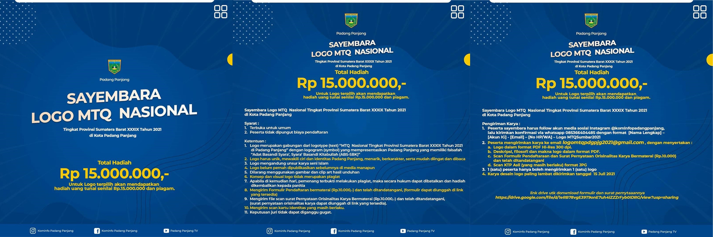 Lomba Logo MTQ Nasional Berhadiah 15 Juta Rupiah oleh Padang Panjang