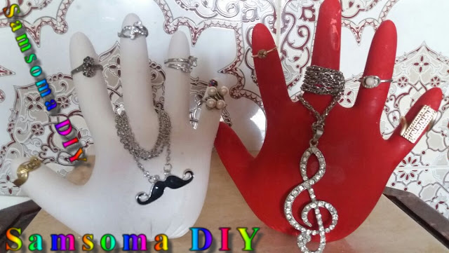 DIY : Accessories Holder . DIY  Jewelry Organizer  . صنع حامل إكسسوارات على شكل يد //   صنع حامل اكسسوارات . Créer un rangement bijoux  . صنع علاقة رائعة للاكسسوارات بطريقة سهلة  .