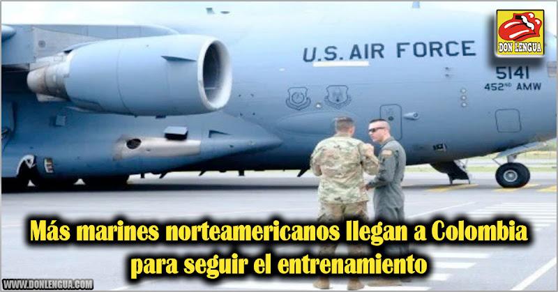 Más marines norteamericanos llegan a Colombia para seguir el entrenamiento