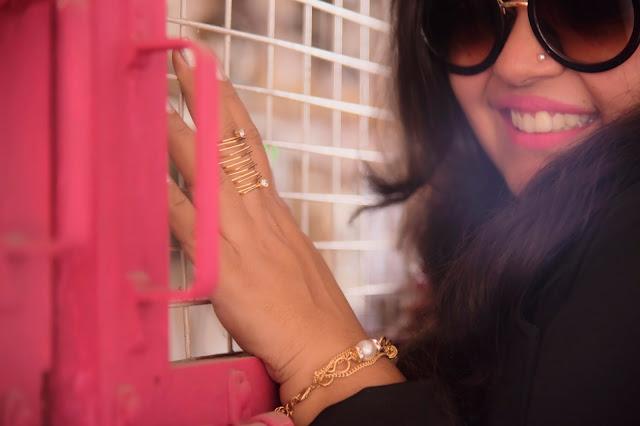 jewellery ring pearls bracelet pink lipstick