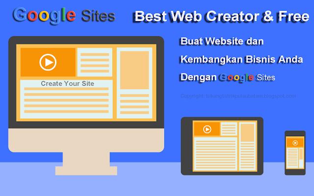Mengenal Google Sites Lebih Dekat (Platform Web Creator)