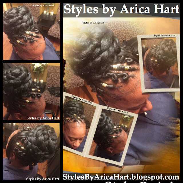 Stuffed twist, styles by Arica hart, black hairstyles