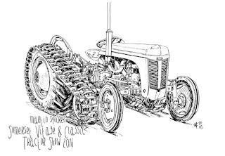 Martin Squires Automotive Illustration: Somerset Vintage