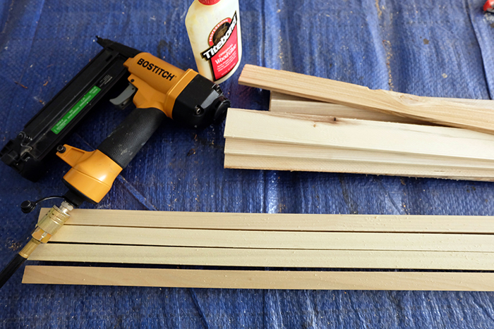 wood and tool supplies prepped