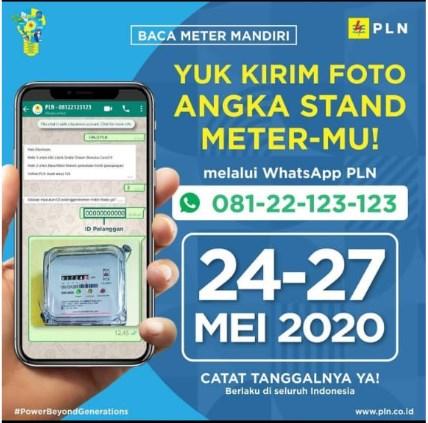 Cara Mengirim Foto Stand Meter PLN 24-27 Mei 2020 Dengan Mudah