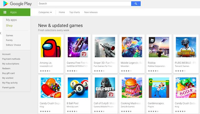 mencari aplikasi di google play