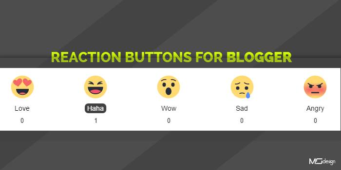 Reaction Buttons for Blogger using Vicomi