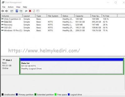 jendela disk managemen