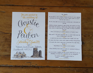 Wedding Invitation by Alice Draws The Line
